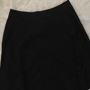 Lane Bryant Size 20 A-Line Black Skirt